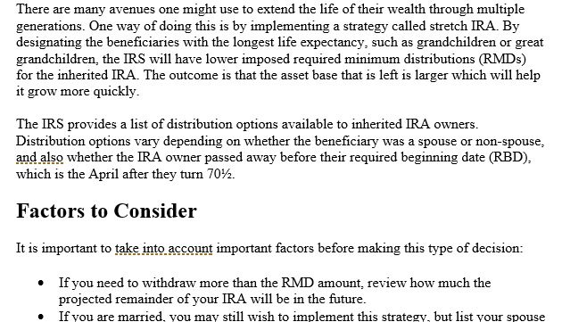 Using Your IRA as Part of Your Wealth Transfer Legacy
